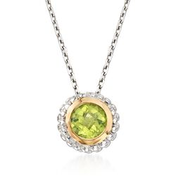 "Phillip Gavriel ""Popcorn"" .45 Carat Peridot Pendant Necklace in Sterling Silver and 18kt Gold, , default"
