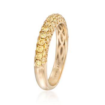 Henri Daussi 1.00 ct. t.w. Fancy Yellow Diamond Wedding Ring in 14kt Yellow Gold, , default