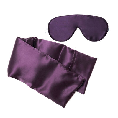 Plum Silk Hot/Cold Pack and Eye Mask Set, , default