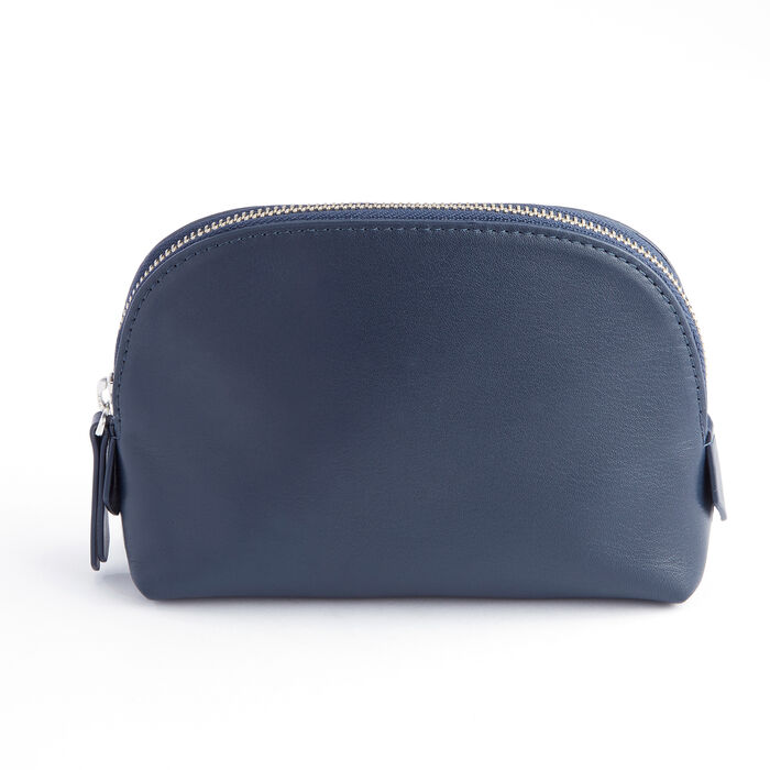 Royce Blue Leather Cosmetic Case