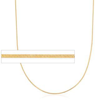 Italian 1mm 24kt Gold Over Sterling Adjustable Slider Snake Chain Necklace , , default