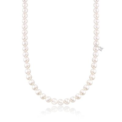 Mikimoto 6.5-7mm 'A' Akoya Pearl Necklace with 18kt White Gold
