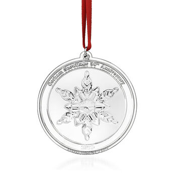 Gorham 2019 50th Anniversary Sterling Silver Snowflake with Free Medallion Ornament, , default
