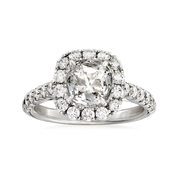 Henri Daussi 2.12 ct. t.w. Certified Diamond Engagement Ring in 18kt White Gold, , default