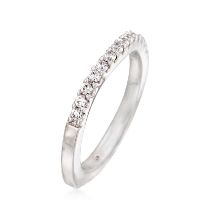 Gabriel Designs .29 ct. t.w. Diamond Curved Wedding Ring in 14kt White Gold