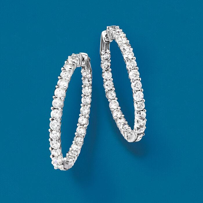 5.00 ct. t.w. Diamond Inside-Outside Hoop Earrings in 14kt Yellow Gold