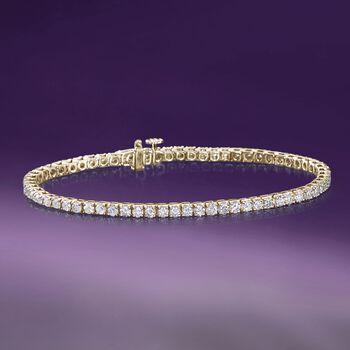 4.00 ct. t.w. Diamond Tennis Bracelet in 14kt Yellow Gold, , default