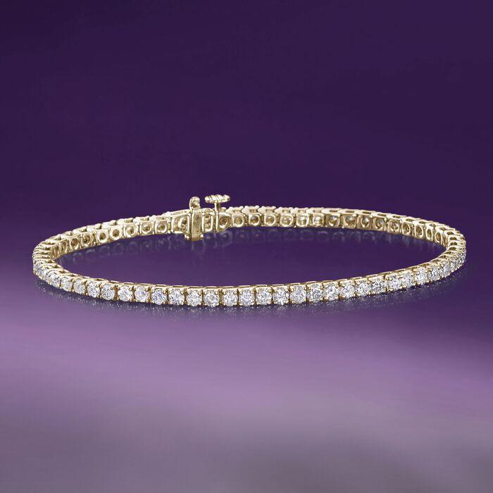 4.00 ct. t.w. Diamond Tennis Bracelet in 14kt Yellow Gold