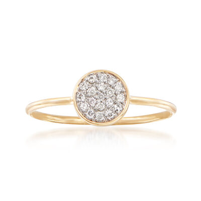 .10 ct. t.w. Diamond Disc Ring in 14kt Yellow Gold, , default