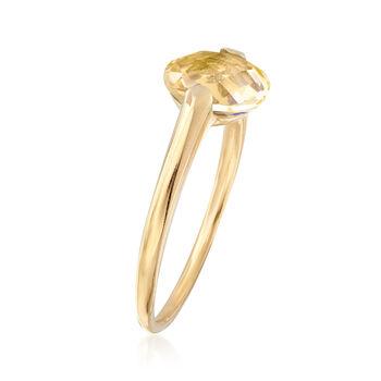 Italian 1.60 Carat Citrine Ring in 14kt Yellow Gold, , default