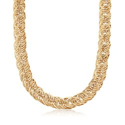 14kt Yellow Gold Multi-Link Necklace, , default