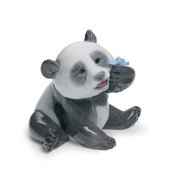 "Lladro ""A Happy Panda"" Porcelain Figurine, , default"