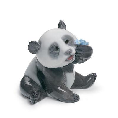 """Lladro """"A Happy Panda"""" Porcelain Figurine, , default"""