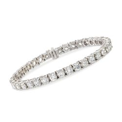 "14.00 ct. t.w. Diamond Tennis Bracelet in 14kt White Gold. 7"", , default"