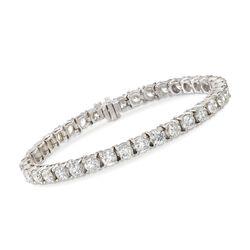 14.00 ct. t.w. Diamond Tennis Bracelet in 14kt White Gold, , default