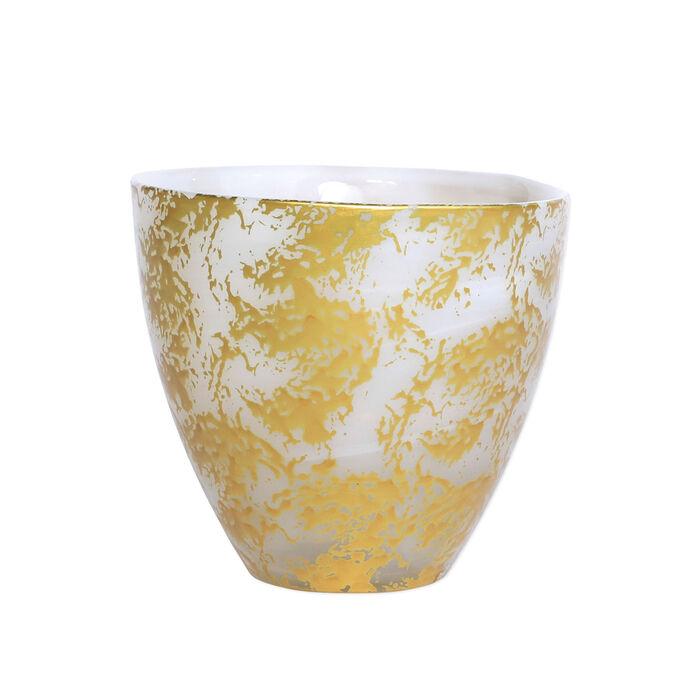 """Vietri """"Rufolo"""" Gold Scattered Glass Votive"""