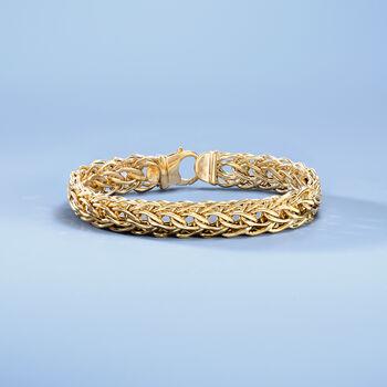 Italian 14kt Yellow Gold Cestina Link Bracelet, , default