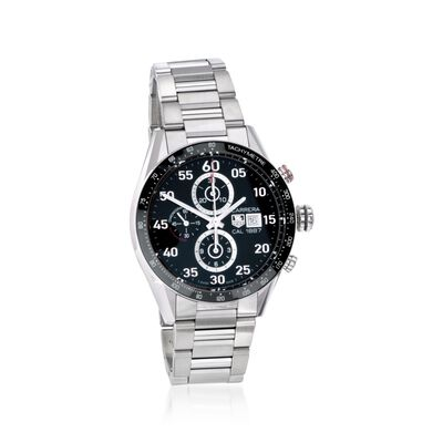 TAG Heuer Carrera Men's 43mm Chronograph Stainless Steel Watch, , default