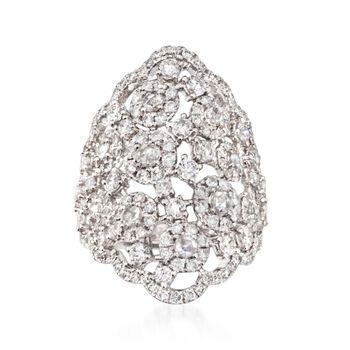 2.81 ct. t.w. Diamond Openwork Ring in 18kt White Gold, , default