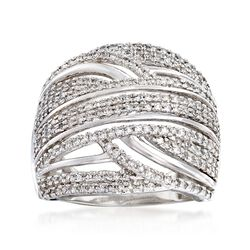 1.00 ct. t.w. Diamond Highway Ring in 14kt White Gold, , default