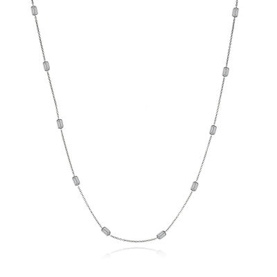 2.50 ct. t.w. Diamond Station Necklace in 14kt White Gold