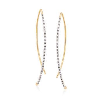 .15 ct. t.w. Diamond Linear Threader Earrings in 14kt Yellow Gold , , default