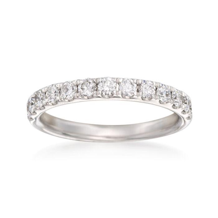 Henri Daussi .67 ct. t.w. Diamond Wedding Ring in 14kt White Gold, , default