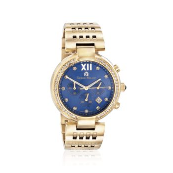 Giorgio Milano Women's 43mm Gold-Plated Stainless Steel Watch With Swarovski Crystals, , default
