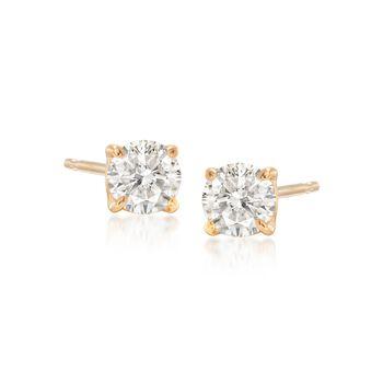 .50 ct. t.w. Diamond Stud Earrings in 14kt Yellow Gold, , default