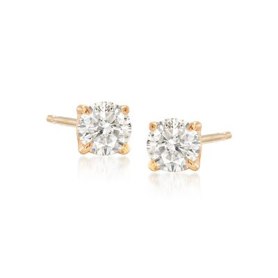 .50 ct. t.w. Diamond Stud Earrings in 14kt Yellow Gold, , default