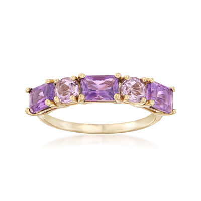Five-Stone Amethyst Ring in 14kt Yellow Gold, , default