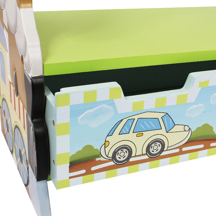 Child's Transportation Wooden Bookshelf