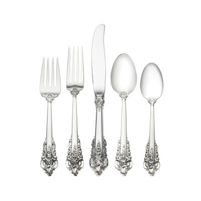 "Wallace ""Grande Baroque"" 46-pc. Service for 8 Sterling Silver Dinner Setting"