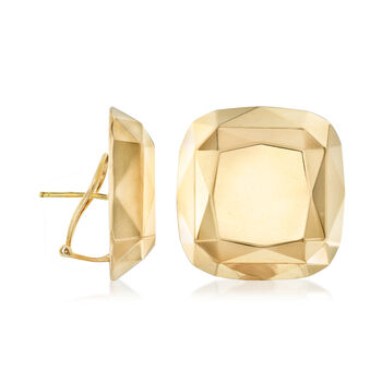 "C. 1980 Vintage Tiffany Jewelry ""Elsa Peretti"" 18kt Yellow Gold Shield Earrings, , default"