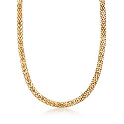 C. 1990 Vintage 18kt Yellow Gold Mesh Necklace, , default