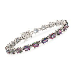 15.00 ct. t.w. Multicolored Topaz Tennis Bracelet in Sterling Silver, , default