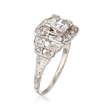 C. 2000 Vintage 1.21 ct. t.w. Certified Diamond Ring in Platinum. Size 7, , default
