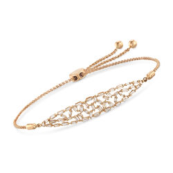 .52 ct. t.w. Baguette Diamond Bolo Bracelet in 14kt Yellow Gold , , default