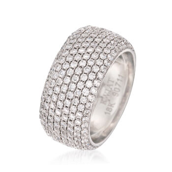 "C. 2005 Vintage Kwiat ""Moonlight"" 2.85 ct. t.w. Diamond Eternity Band in 18kt White Gold. Size 6, , default"