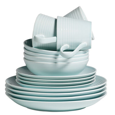 "Gordon Ramsay for Royal Doulton ""Maze"" 16-pc. Blue Dinnerware Set"