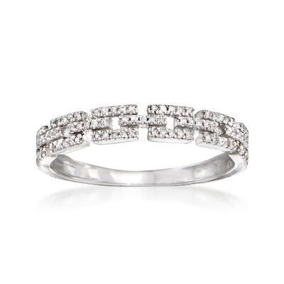 .11 ct. t.w. Diamond Link Ring in 14kt White Gold, , default