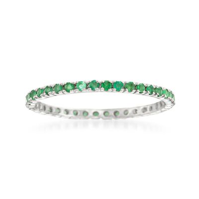 .33 ct. t.w. Emerald Eternity Band in 14kt White Gold, , default