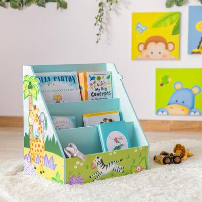 "Child's ""Sunny Safari"" Wooden Bookshelf"