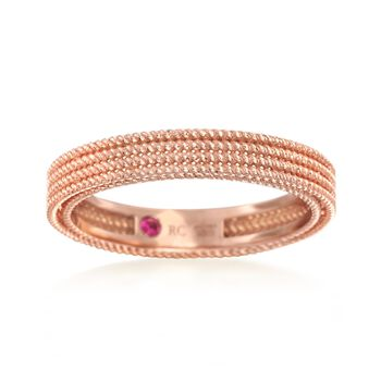 "Roberto Coin ""Symphony"" Barocco Ring in 18kt Rose Gold. Size 7, , default"