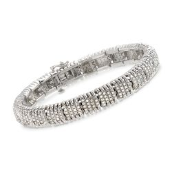 2.00 ct. t.w. Diamond Fancy Link Bracelet in Sterling Silver, , default