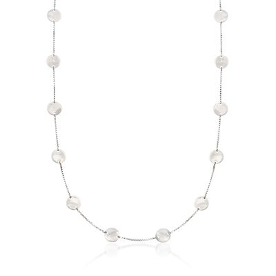 Sterling Silver Multi-Disc Station Necklace, , default