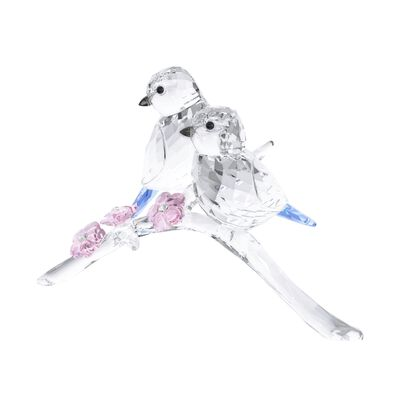 "Swarovski Crystal Pair of ""Blue Chickadee"" Crystal Figurines"
