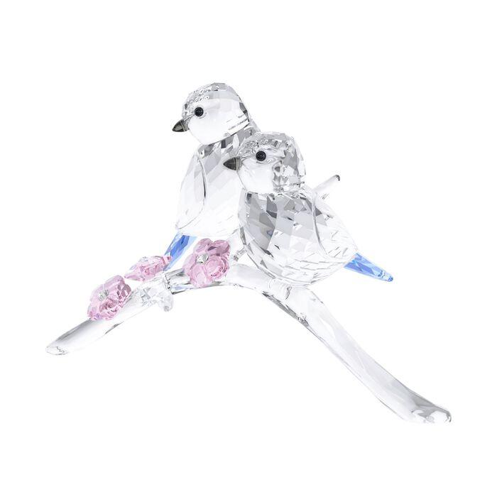 """Swarovski Crystal Pair of """"Blue Chickadee"""" Crystal Figurines, , default"""