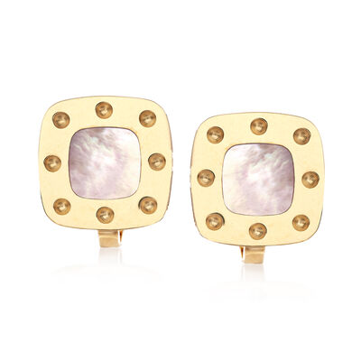 "Roberto Coin ""Pois Moi"" 18kt Yellow Gold and Mother-Of-Pearl Earrings, , default"