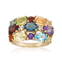 4.50 ct. t.w. Multi-Stone Ring in 14kt Yellow Gold, , default